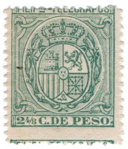 (I.B) Philippines Telegraphs : 2 4/8c Slate (1896)