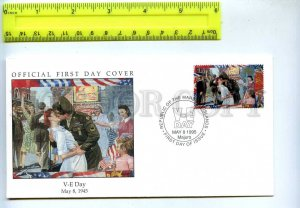 242067 MARSHALL ISLANDS WWII V-E Day 1995 year FDC