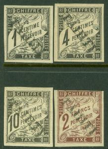 EDW1949SELL : TAHITI 1893 Sc #J1, 4, 6, 13 VF MOG Signed Carion Paris Cat $2,400