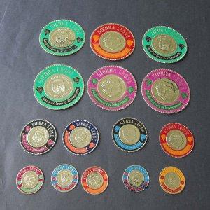 Tonga 15 round stamps