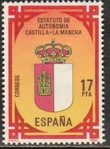 SPAIN 2373, CASTILLA LA MANCHA AUTONOMOUS STATUTE. MINT, NH. F-VF. (174)