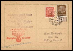 3rd Reich Germany Friedland Sudetenland 1938 Annexation Provisional Cover 72705