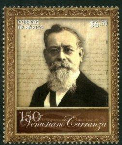 MEXICO 2667, 150th Anniv.OF THE BIRTH OF VENUSTIANO CARRANZA MINT, NH. VF.