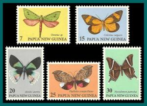 Papua New Guinea MNH 503-7 Butterflies 1979