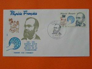 medicine doctor Robert Koch tuberculosis disease FDC French Polynesia 32340