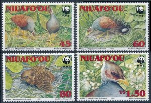1993 Niuafo'ou 233-236 WWF / Birds 18,00 €