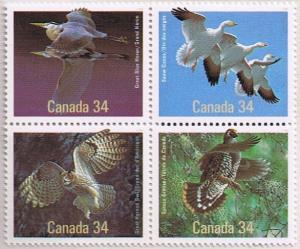 Canada Mint VF-NH #1098a Birds of Canada block/4