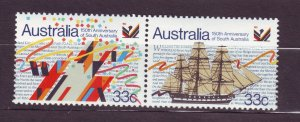 J23789 JLstamps 1986 australia pair mnh #975a ship