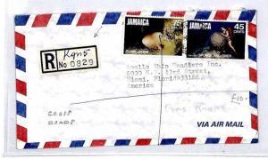 Jamaica *Cross Roads* Registered KGN5 Air Mail Cover {samwells-covers}1982 CS22