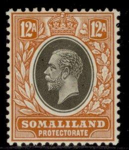 SOMALILAND PROTECTORATE GV SG81, 12a grey-black & orange-buff, M MINT.