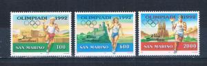 San Marino 1232-34 MNH set Summer Olympics 1992 (S0862)+