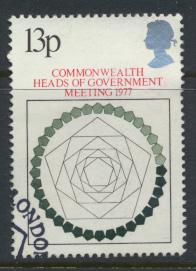 Great Britain  SG 1038 SC# 815 Used / FU with First Day Cancel - Heads of Gov...