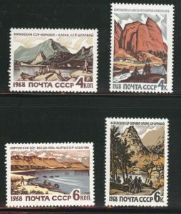Russia Scott 3530-3533 MNH** recreational landscapes