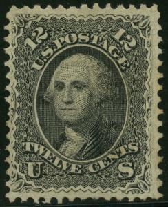 #69 12¢ BLACK VF UNUSED CV $725 BT8852