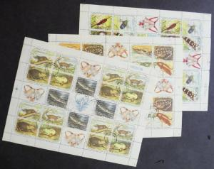 EDW1949SELL : SPANISH COLONY 1961 Complete set of Christmas Sheetlets Used.