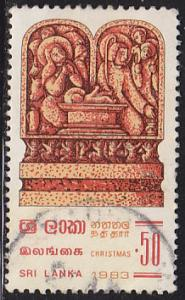 Sri Lanka 695 Used 1983 Christmas, Stone Carvings