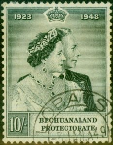 Bechuanaland 1948 RSW 10s Black SG137 Fine Used