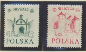 Poland Stamps Scott #555 To 556, Mint Hinged - Free U.S. Shipping, Free World...