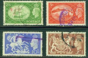 GREAT BRITAIN Scott 286-9 KGVI 1951 set CV $35