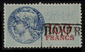 FRANCE REVENUE 1935 TIMBRE FISCAL #TF99 SCARCE 100 FRANCS VF CV $14.50