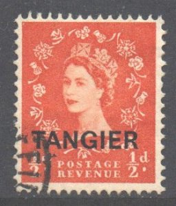 Morocco Tangier Scott 583 - SG313, 1956 St Edward's Crown 1/2d used