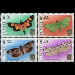 TUVALU 1980 - Scott# 138-41 Moths Set of 4 NH
