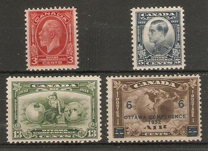 CANADA 1932 OTTAWA CONFERENCE SET SG 315/318 HINGED MINT