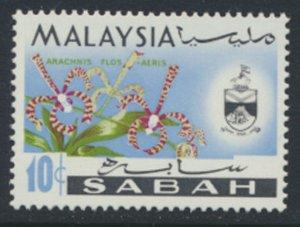 SABAH SG 431  SC# 21a MVLH* Flower  see scans /details