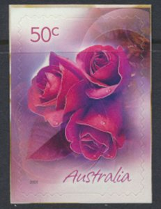 Australia  SC# 2359  MNH S/A on backing Red Roses - see detail & scan