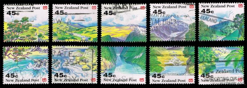 New Zealand #1116-1125 Set of 10; Used (6.50)