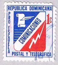Dominican Republic Comunications 1c gray - wysiwyg (AP103821)