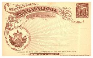Salvador, Government Postal Card