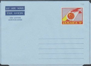 JAMAICA 9c aerogramme - unused..............................................L230