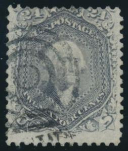 #78 24c FINE USED WITH TARGET CANCEL CV $350 AU876