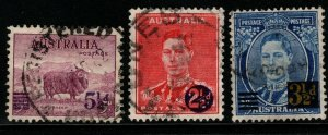 AUSTRALIA SG200/2 1941 SURCHARGES FINE USED