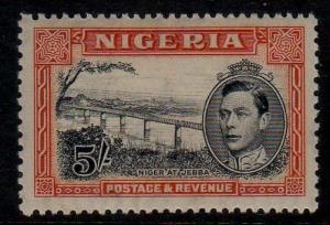 NIGERIA 1942 KGVI 5/- SG 59 P13X11?MH