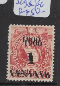 Guatemala SC 98a Double Surcharge MNG (4dqn)