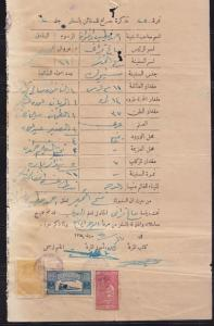 SAUDI ARABIA1940 OLD SEALING PERMISSION DOCUMENT WITH REVENUE STAMP COLLECTION