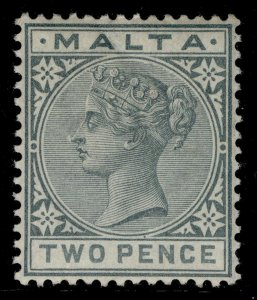 MALTA QV SG23, 2d grey, M MINT. Cat £13.