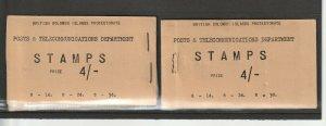British Solomon Islands, 1959 Booklets, 4/- both Right & Left stapled SG SB1