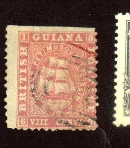 BRITISH GUIANA #31 USED AVE-FINE Cat $98