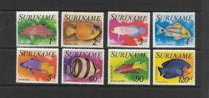 FISH - SURINAME #471-5, C72-4   MNH