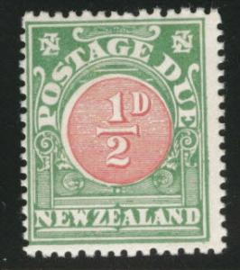 New Zealand Scott J16 MH* 1904 Postage Due perf 14x14.5