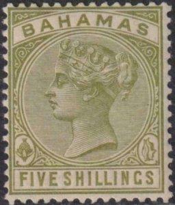 Bahamas 1884-1890 31 Mint