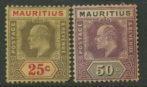 STAMP STATION PERTH Mauritius #146-147 KEVII Definitive Mint CV$6.00