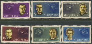 ALBANIA Sc#680-685 1963 Man's Conquest of Space Complete Mint OG NH