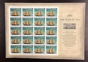4703 War of 1812  U.S. Constitution Imperf MNH Forever stamps Sheet of 20 FV $11