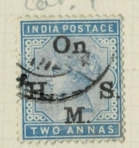 india 1874-82 - ON.H.M.S OVERPRINT - QV 1AS   SG NO 052 USED