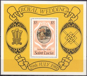 St Lucia. 1981. bl29. politics. MNH.