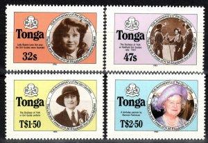 Tonga #608a-611a  MNH CV $29.50  (SU8354)